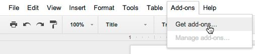 Google Docs and Sheets add add-ons from third parties