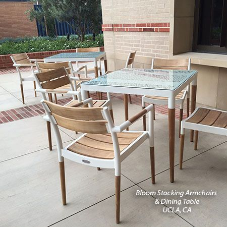 Teak And Aluminum Bloom Collection Commercial Furniture Installations Outdoor Furniture Sets Commercial Furniture Furniture