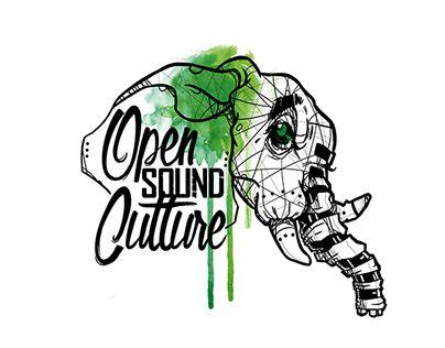 Logo pour l'association Nantaise Open Sound Culture, organisant des soirées dans la région Dub / hip Hop / techno/ électro