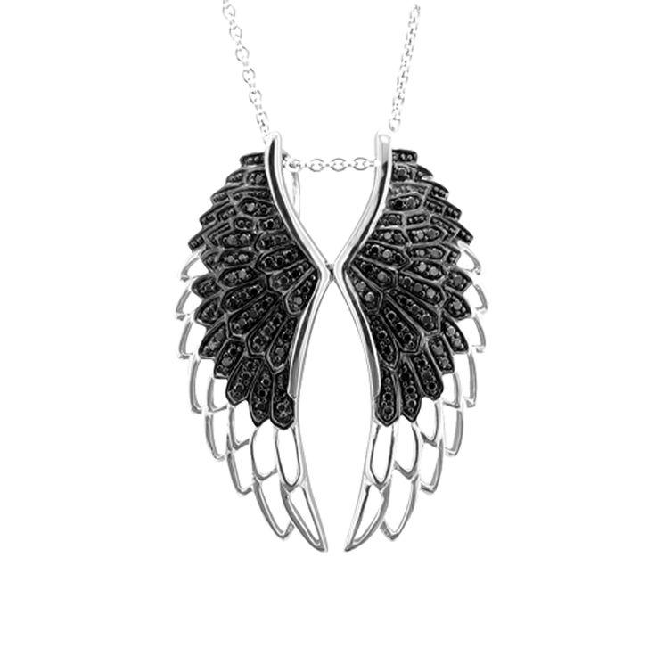 Feel Angelic.  #FashionPendants #DiamondPendants #Pendants #FashionJewelry #Accessories #Datenight #Diamonds