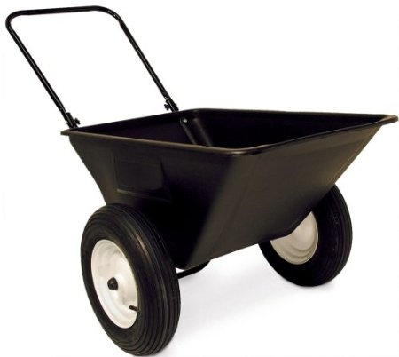 Precision Products 5 1/2 Cubic Foot Garden Yard Cart With 16