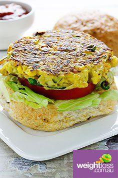 Vegetable Burger. #HealthyRecipes #DietRecipes #WeightLossRecipes weightloss.com.au
