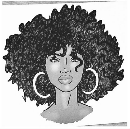 how to draw curly hair from the back