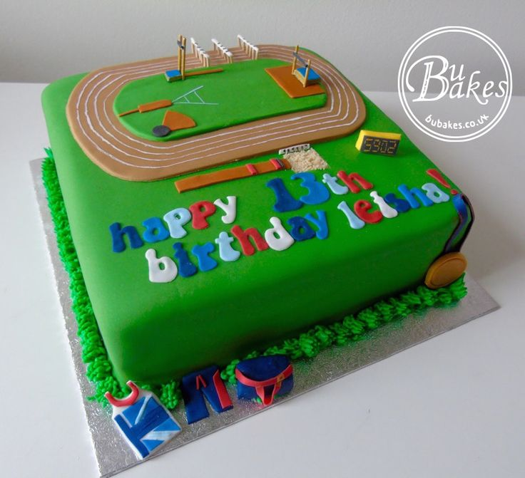 100% edible athletics Team GB cake www.BuBakes.co.uk For more creations, tips and competitions like us at Facebook.com/bubakes