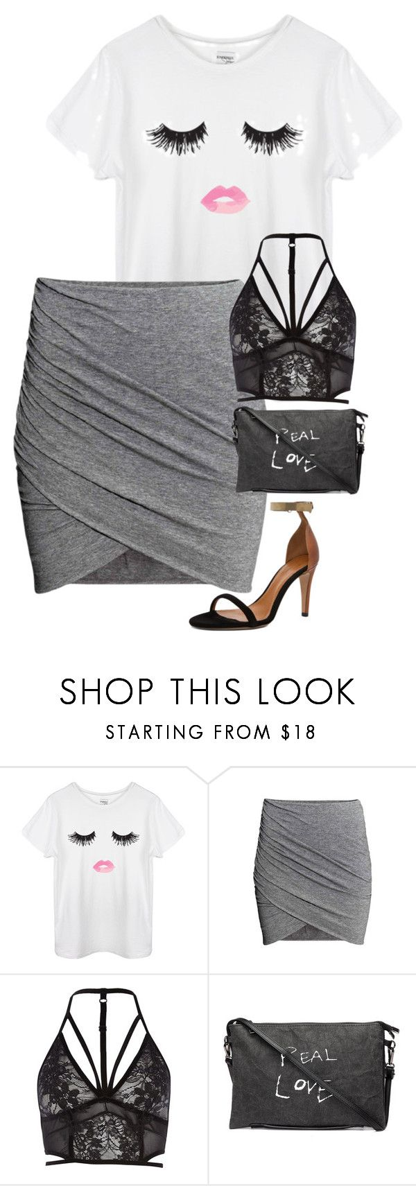 """""""ootd casual date night"""" by courtney13w ❤ liked on Polyvore featuring River Island and Isabel Marant"""