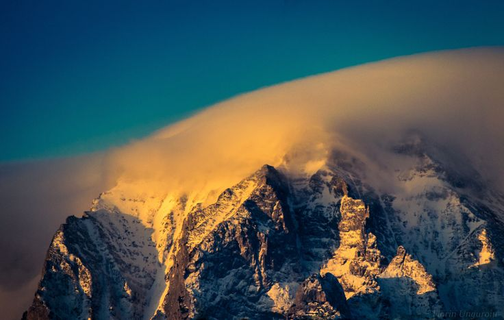 Morning beauty - View of the Costila Abrupt , located in the Bucegi Massif. Photo taken from Predeal, Romania.