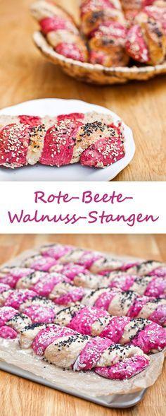 Rote-Beete-Walnuss-Stangen
