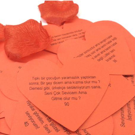 Kalp Şeklinde Romantik Aşk Sözleri