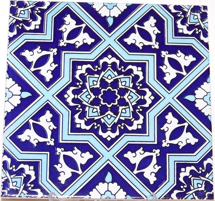 Blue Amp White Seljuk Geometric Amp Floral Design 8 Quot X8