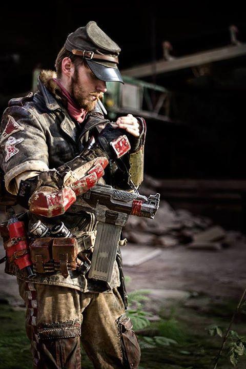 post apocalyptic / military / armor / wasteland warriors / dystopia / LARP / cosplay for men / dark future