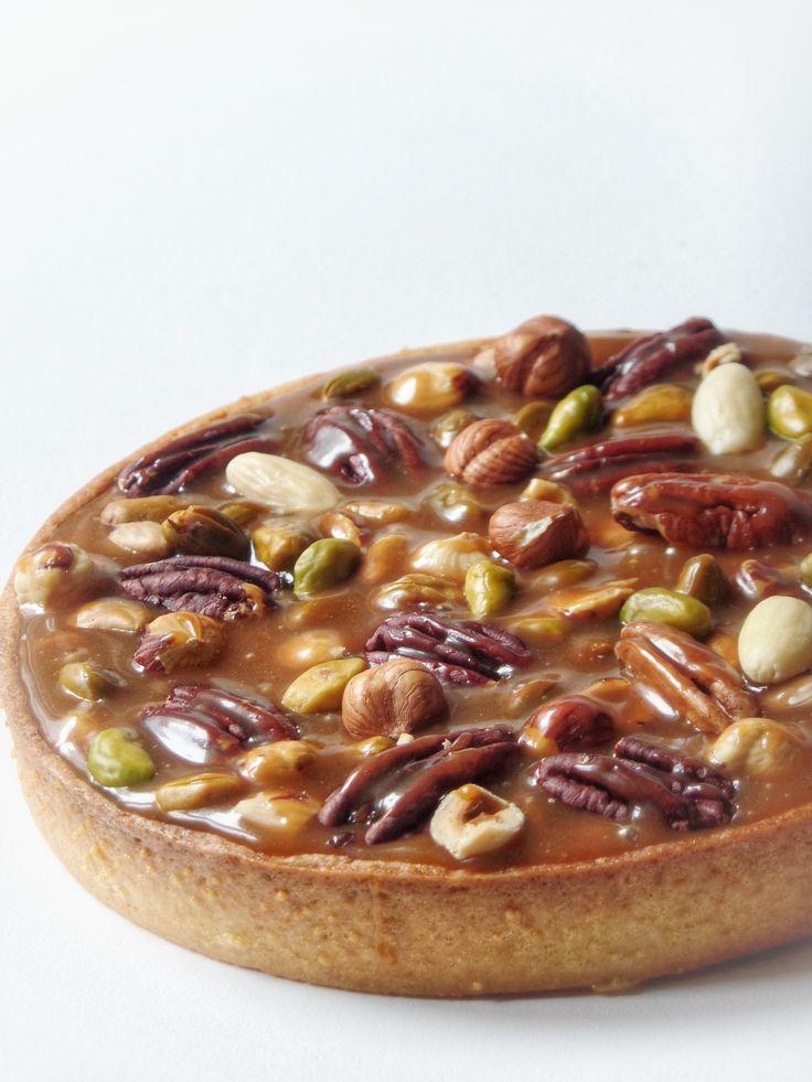 Tarte aux fruits secs et caramel - Recette Olivia Pâtisse