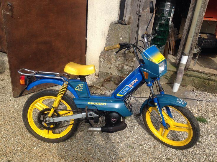 Peugeot 103 SPX bleu / jaune