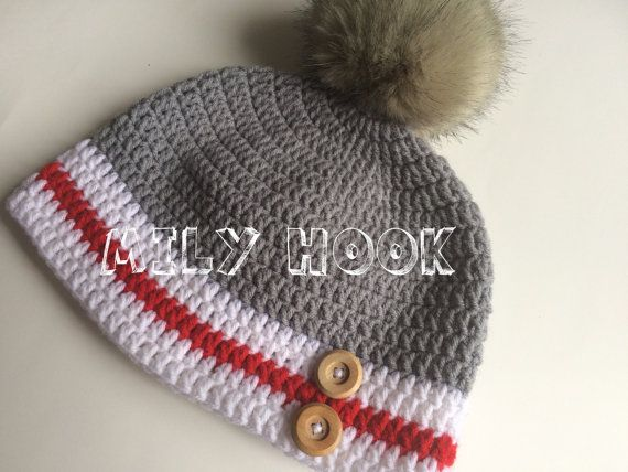 Tuque bas de laine pour adulte fait au crochet avec par MilyHook