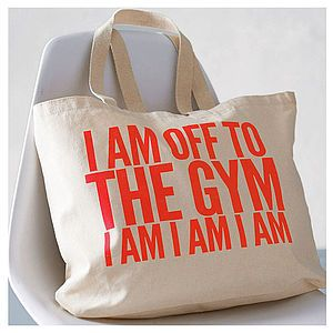'Off To The Gym' Bag - gifts for her