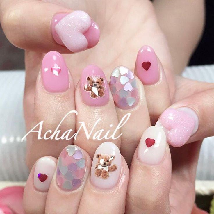 ハートとクマちゃん http://ameblo.jp/acha-nail/entry-12199818690.html  #くまネイル #テディベア #ハートネイル #ゆめかわネイル #3Dネイル #ガーリーネイル #ホログラム #ネイル #ジェルネイル #ネイルデザイン #フィルイン #池袋 #池袋ネイルサロン #3Dnails #heartnails #heart #teddybear #cute #pinknails #lovely #Nails #AchaNail #NailStagram #InstaNails #Nailart #JapaneseNailart #NailDesign #Gelnails #Tokyo #kawaii