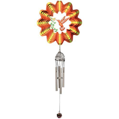 Iron Stop Hummingbird Wind Chimes *** You can find more details by visiting the image link.