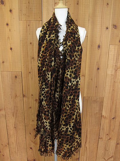 2012AW  Leopard stole