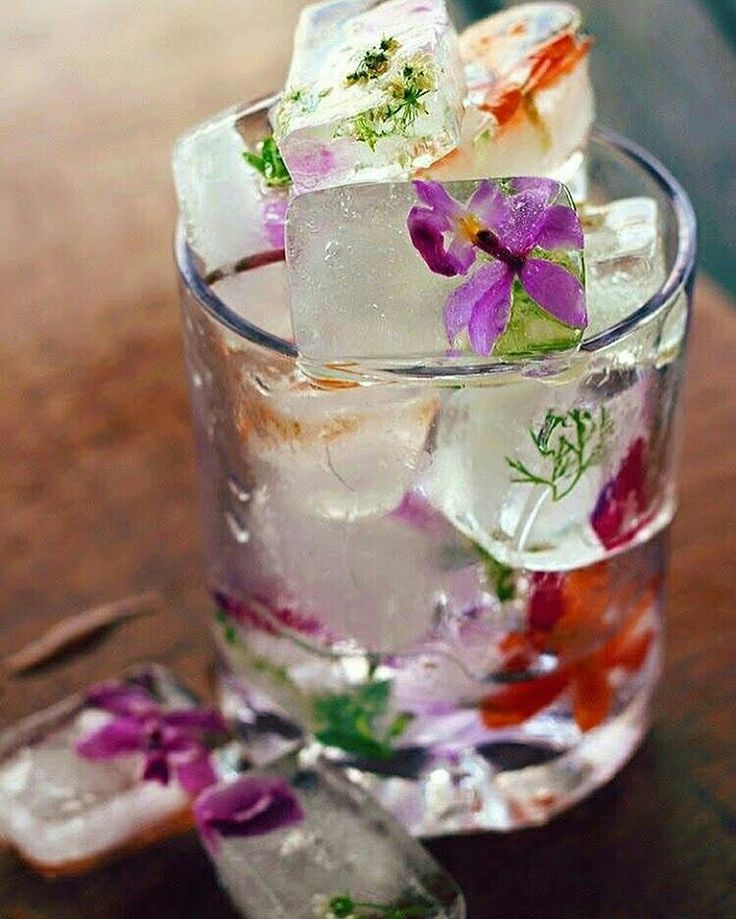 Fun way to savor the beauty of 🔹 🌼  f  l  o  w  e  r  s 🌼 🔹  #floralicecubes #thursday