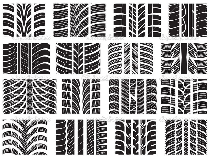 depositphotos_22055755-Set-of-various-tire-treads.jpg (1023×764)