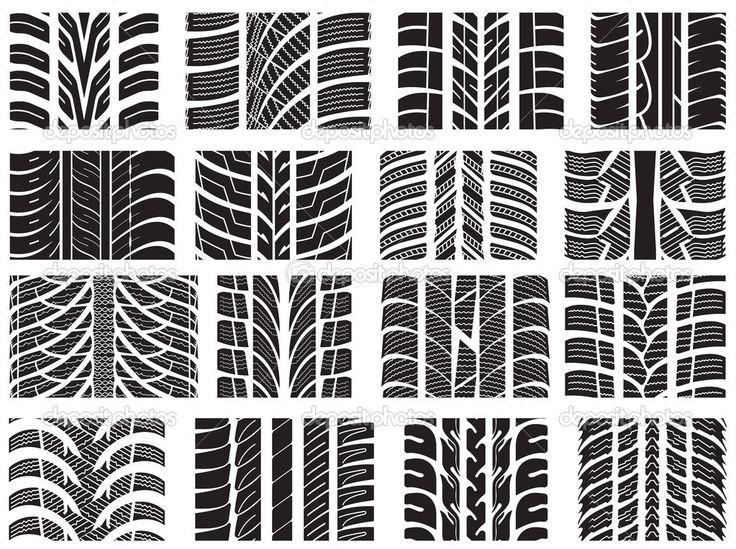 depositphotos_22055755-Set-of-various-tire-treads.jpg (1023×764)