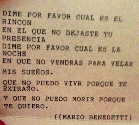 Mario Benedetti..