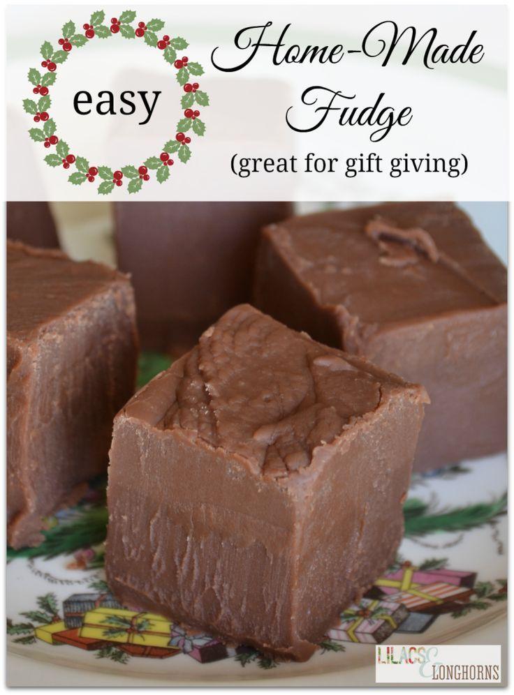 Easy Home Made Fudge!