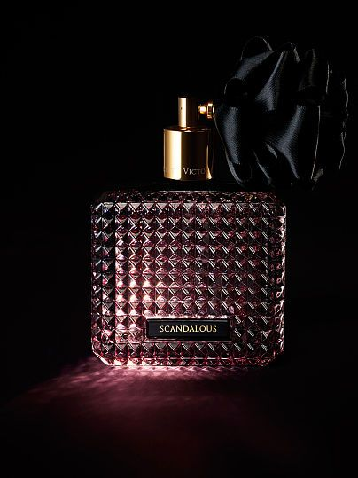 Scandalous Eau de Parfum Victoria 1.7fl. oz. $58.00: 3.4fl. oz $78.00 Lose yourself in a sultry blend of black peony, raspberry liqueur and praline. In a studded glass bottle with black ribbon, this eau de parfum takes sexy to the edge. Fragrance type: Fruity floral Notes: Raspberry liqueur, black peony and praline 50 ml/1.7 fl oz. 100 ml/3.4 fl oz