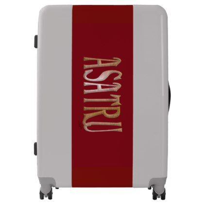 Asatru UGOBAGS large luggage suitcase - calligraphy gifts custom personalize diy create your own
