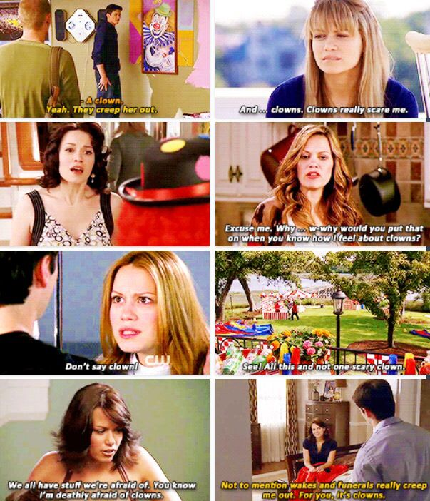 Haley James Scott and her fear of clowns