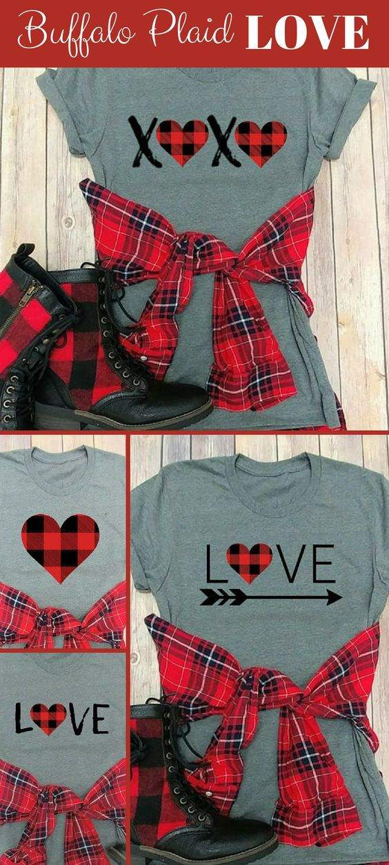 5a356bb9a 28 Awesome DIY Valentine's Day T-Shirt Ideas | Holiday Crafts ...