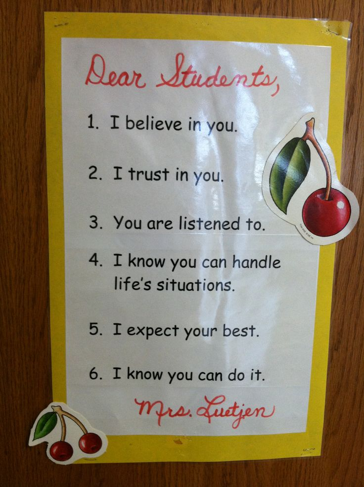 Dear Students...inspired by Harry Wong's first days book.
