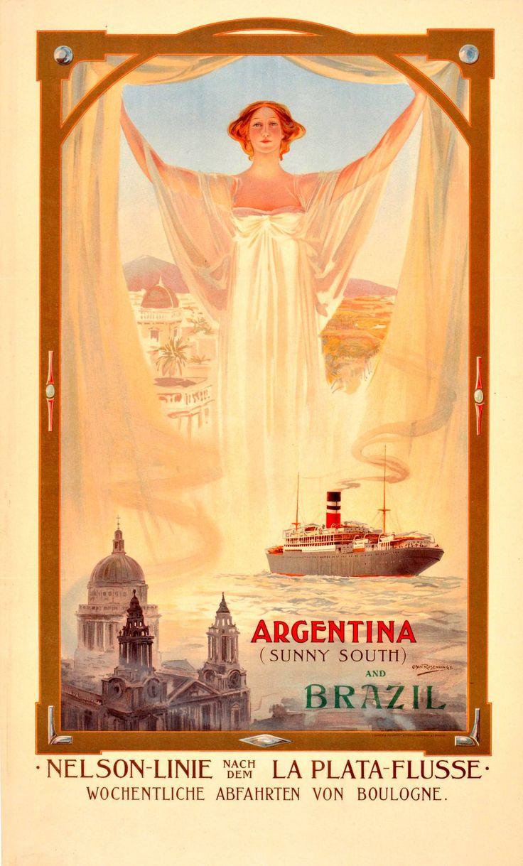 Odin Rosenvinge - Original Early 1900s Art Nouveau Poster: Nelson ...