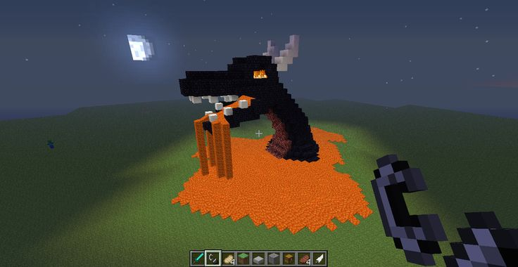 Minecraft Small Statues | Minecraft Dragon Sculpture by spontaneous-chibi
