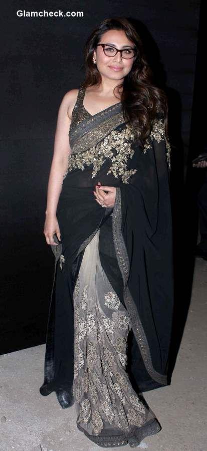 Front row fashion - Rani Mukherjee at the Sabyasachi 2015 LFW show