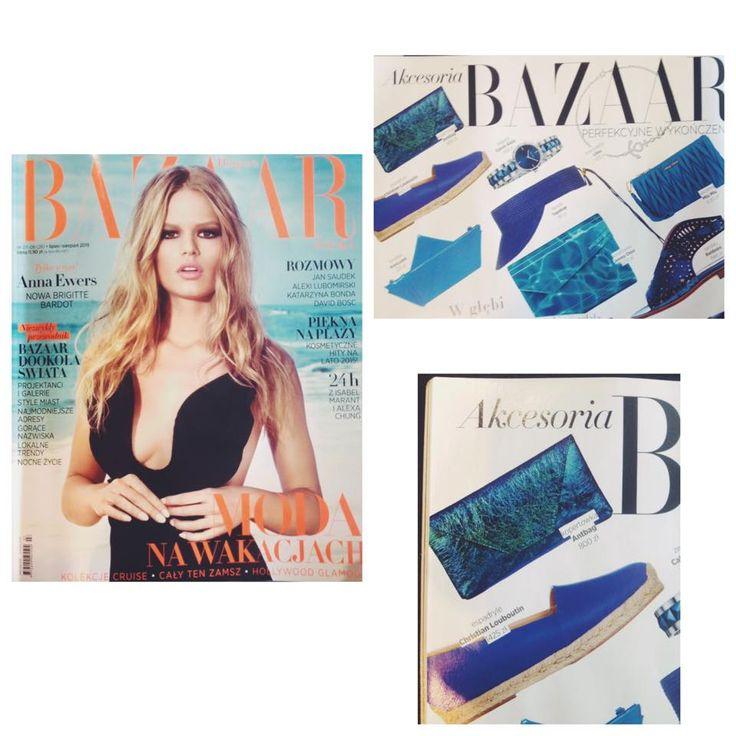Torebka Antbag w najnowszym wydaniu Harpers Bazaar. Dostępna w Forum Mody! #antbag #forumody #harpersbazaar #bag #bluebag #fashionmagazine #trends #fashion