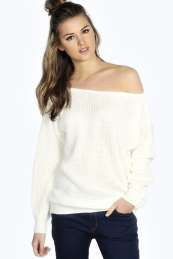 Lola Slash Neck Fisherman Jumper from #Boohoo on discounted price. Use promotional Codes and coupon Codes.