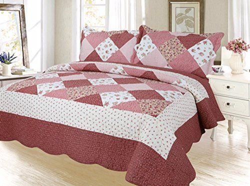 Plaid Printed Bedding 3 Piece Bedspread Quilt Set, Queen,... https://www.amazon.com/dp/B01LYCI0IG/ref=cm_sw_r_pi_dp_x_DKXSybTK4RQFN