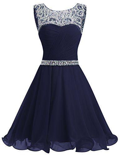 Dresstells® Short Chiffon Open Back Prom Dress With B…