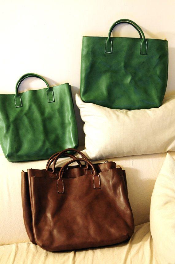 Cucito a mano slavato colore Beige Leather di ArtemisLeatherware