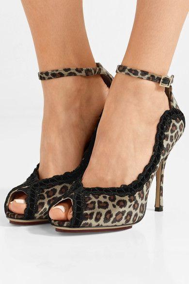 Charlotte Olympia - Vida Leopard-print Velvet Pumps - Leopard print