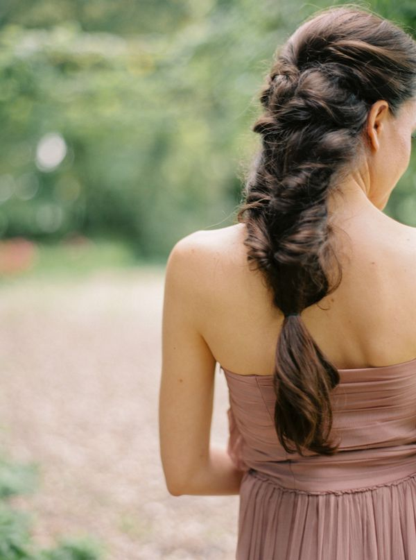 braided wedding hair - photo by Katja Scherle http://ruffledblog.com/dutch-fall-wedding-inspiration