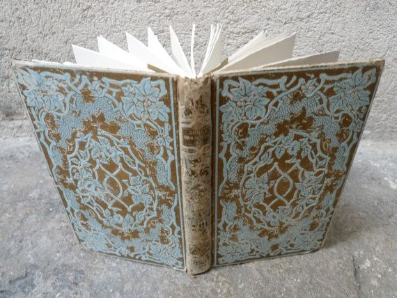 Something Blue Wedding Guestbook  Upcycled French by Spellbinderie, $139.00    Faerytale book for the guestbook!