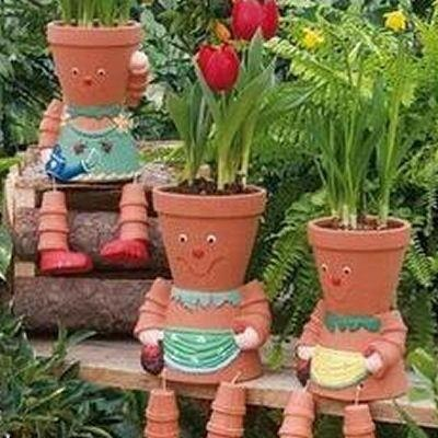 Cute Flower Pot People Garden Ideas Pinterest Flower