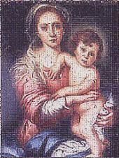 Copy of Madonna and Child by Murillo. I won a first prize for this at the Miniature Society of Florida 1995
