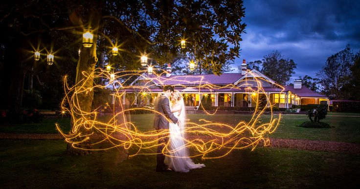 Bride & Groom + Sparklers Gabbinbar Homestead Salt Studios| Toowoomba Wedding and Commercial Photography