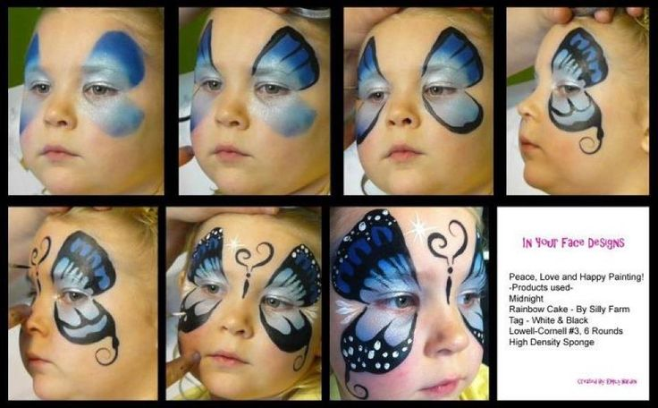 how to face paint step by step - Google Search