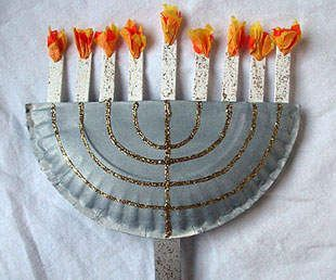 Paper Plate Menorah (Don't know how we'll have time for all these crafts, but I like the idea.)