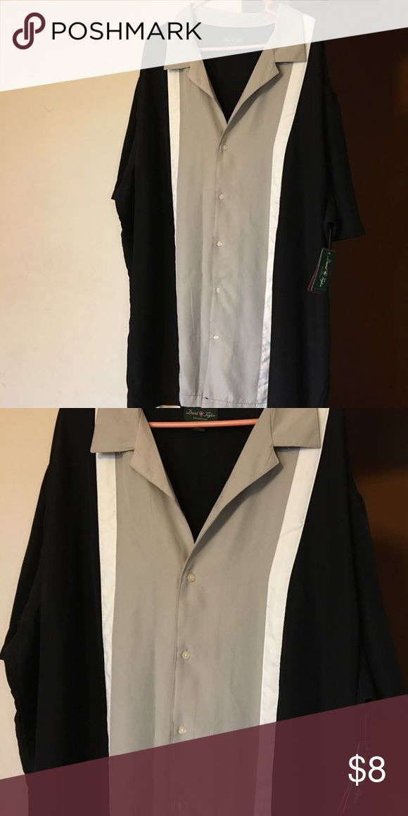 New Big and Tall Short Sleeve Dress Shirt New Big and Talk Black and Tan Dress Shirt Shirts Dress Shirts