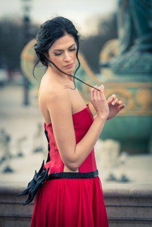 Alkmini Red Dress