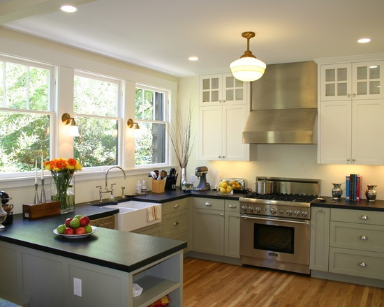 85 best images about kitchen no upper cabinets on for Kitchen ideas no upper cabinets